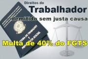 multa 40% FGTS